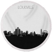 Louisville Cityscape Art Round Beach Towel