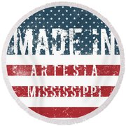 Made In Artesia, Mississippi Round Beach Towel