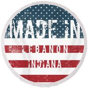 Made In Lebanon, Indiana Round Beach Towel