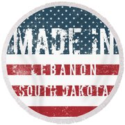 Made In Lebanon, South Dakota Round Beach Towel