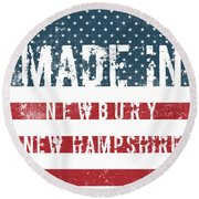 Made In Newbury, New Hampshire Round Beach Towel