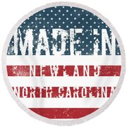 Made In Newland, North Carolina Round Beach Towel