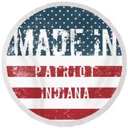 Made In Patriot, Indiana Round Beach Towel