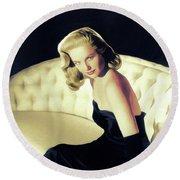 Martha Hyer, Vintage Actress Round Beach Towel
