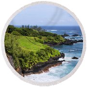 Maui Round Beach Towel