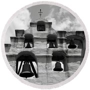 Mission Bells Round Beach Towel