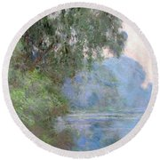 Morning On The Seine Near Giverny, 1897 Round Beach Towel