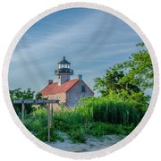 New Jersey - East Point Lighthouse Round Beach Towel by Bill Cannon
