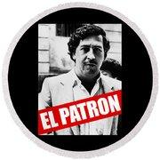 Pablo Escobar Round Beach Towel
