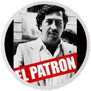 Pablo Escobar Round Beach Towel