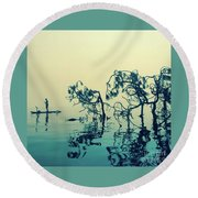 Paddle Board Adventure Round Beach Towel