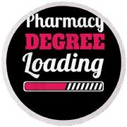 Pharmacy Degree Loading Student Pharmacist Apparel Round Beach Towel