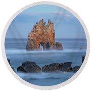 Playa Portizuelo - Spain Round Beach Towel