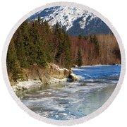 Portage Creek Portage Glacier Highway, Alaska Round Beach Towel
