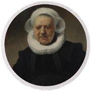 Portrait Of Aechje Claesdr   Round Beach Towel