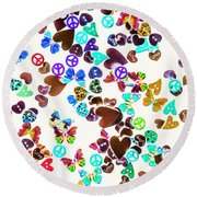Rainbow Love Round Beach Towel