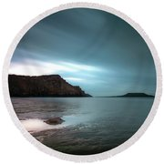 Rhossili Bay And Worms Head Round Beach Towel