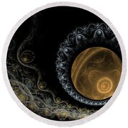 Somewhere In The Universe-2 Round Beach Towel