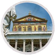 St. Paul Outside The Walls Round Beach Towel