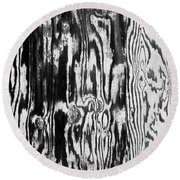 Stained Wood Siding Round Beach Towel