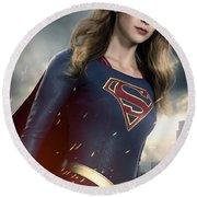 Supergirl Round Beach Towel