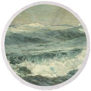 The Roaring Forties  Round Beach Towel