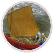 The Yellow Sail, 1905 Round Beach Towel