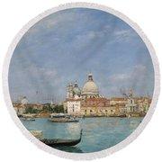 Venice, Santa Maria Della Salute From San Giorgio - Digital Remastered Edition Round Beach Towel