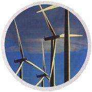 Wind Power Art  Round Beach Towel