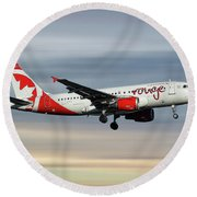Air Canada Rouge Airbus A319-114 Round Beach Towel