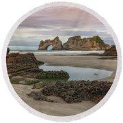 Wharariki Beach - New Zealand Round Beach Towel