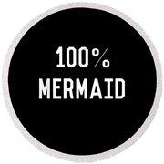 100 Mermaid Round Beach Towel