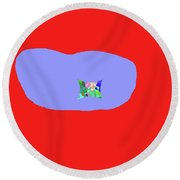 11-18-2009kab Round Beach Towel