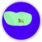 11-18-2009kabcdef Round Beach Towel