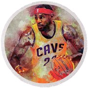 Lebron Raymone James Round Beach Towel