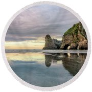 Wharariki Beach - New Zealand Round Beach Towel