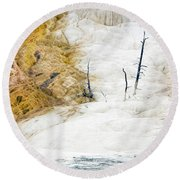 1474 Scorched Earth Round Beach Towel