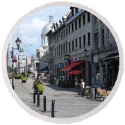 Old Montreal Round Beach Towel