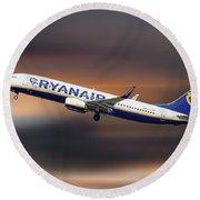 Ryanair Boeing 737-8as Round Beach Towel