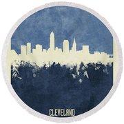 Cleveland Ohio Skyline Round Beach Towel