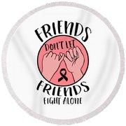 Breast Cancer Awareness Art For Warrior Women Light Round Beach Towel