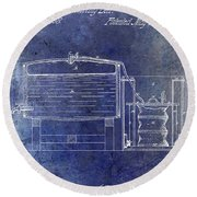 1870 Beer Preserving Patent Blue Round Beach Towel