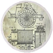 1873 Fire Extinguisgers Patent Round Beach Towel