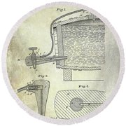 1881 Beer Faucet Patent Round Beach Towel