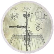 1902 Beer Tapping Device Patent Round Beach Towel