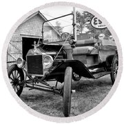 1915 Ford Model T Truck Round Beach Towel
