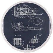 1919 Motor Driven Hair Clipper Blackboard Patent Print Round Beach Towel