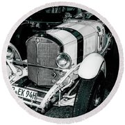 1920's Mercedes Benz Convertible Round Beach Towel