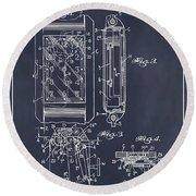 1931 Self Winding Watch Patent Print Blackboard Round Beach Towel