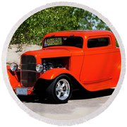 1932 Ford 3 Window Coupe  Round Beach Towel